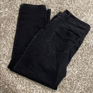 Style & Co Black Jeans size 18 W slightly distress
